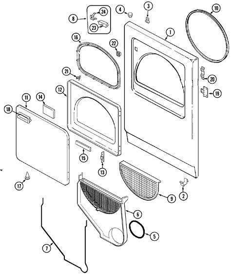 admiral dryer parts diagram door diagram parts list for model lnc7766b71 admiral