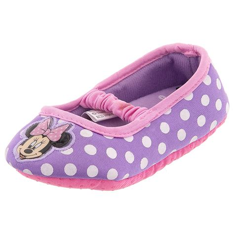 toddler girl house slippers minnie mouse purple ballet flat slippers for toddler girls