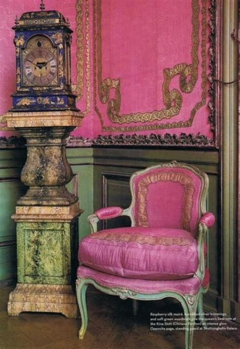 pink and green home decor french country interiors on pinterest french fabric