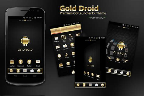 free for android phones 5 android theme icons gold images android themes free themes for android phones and