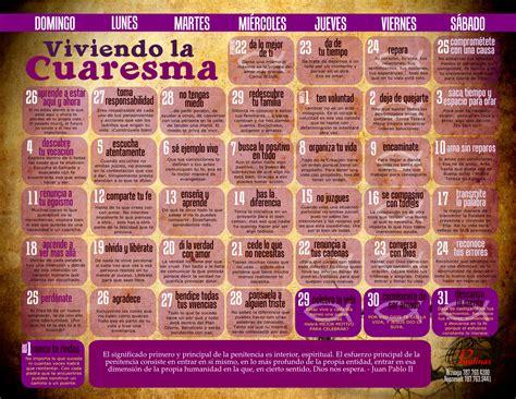 Calendario De Cuaresma Queremos Crear Un Mundo Diferente Calendario De Cuaresma 2012