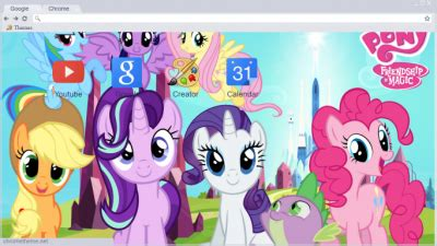 theme google chrome my little pony my little pony chrome themes themebeta
