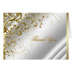 ivory and gold thank you stationery note card zazzle