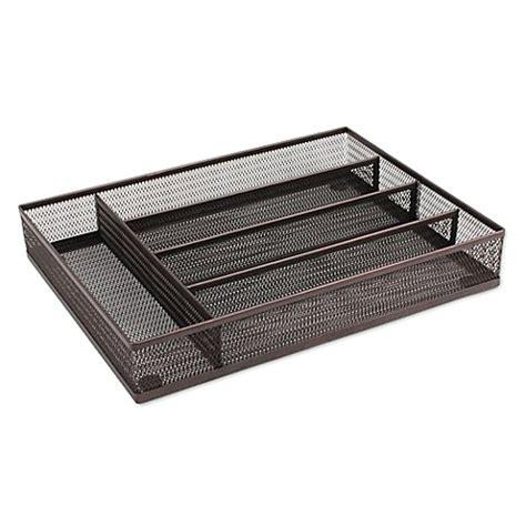 mesh drawer organizer cart buy mesh kitchen drawer tray organizer in bronze from bed