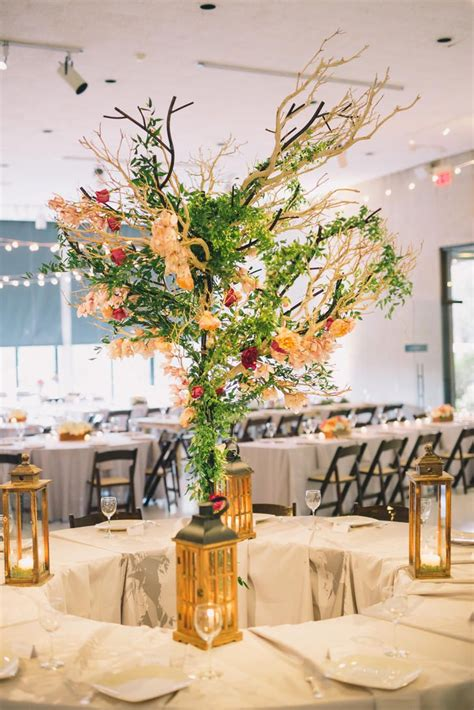 17 best ideas about tree branch centerpieces on