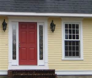 front door colors for yellow house yellow house with red door
