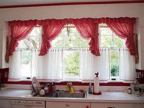 Kitchen Curtain Designs Wine Themed Kitchen Curtains Design And Ideas Decolover Net