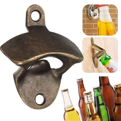 Kitchen Message Center Ideas vintage bronze wall mounted opener wine beer soda glass