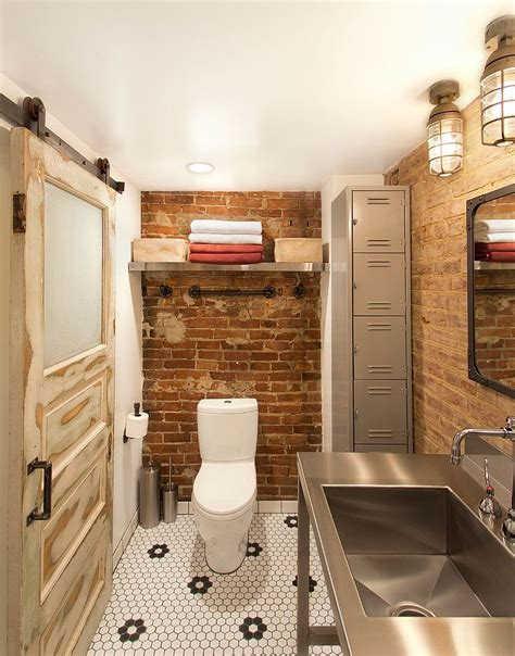 Vintage Bathroom Tile Ideas by Rugged And Ravishing 25 Bathrooms With Brick Walls