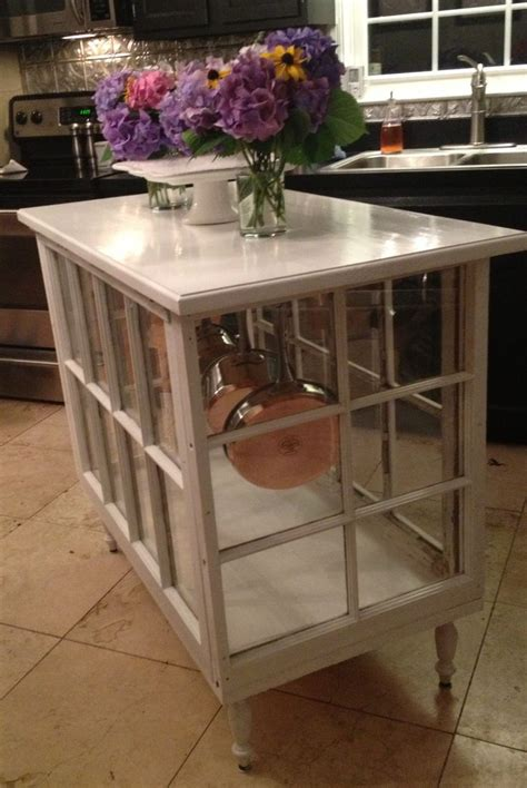 kitchen island tables products i love pinterest kitchen island made out of old windows love pretty