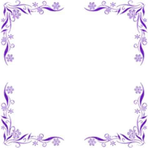 flower frame purple in stamps