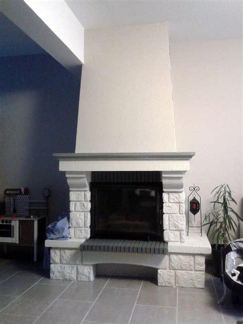 relooking cheminee d 233 co salon chemin 233 e briques repeinte listspirit