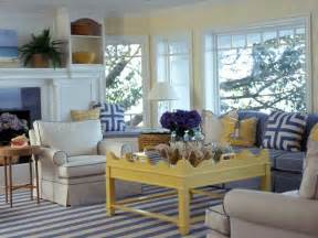blue and yellow living room decor 2017 grasscloth wallpaper