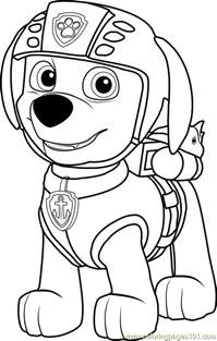 zuma coloring free paw patrol coloring pages coloringpages101