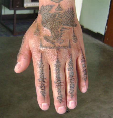 sak yant thai temple tattoos ajarn anek pattaya