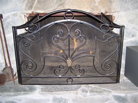 antique rust fireplace screen on custom fireplace quality