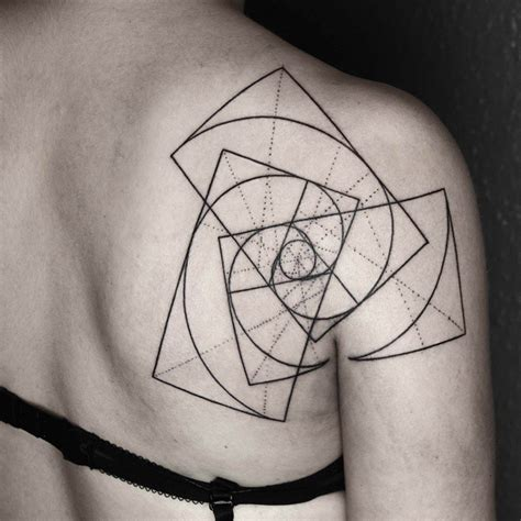 geometric tattoo white geometric tattoos that combine fine lines and nature