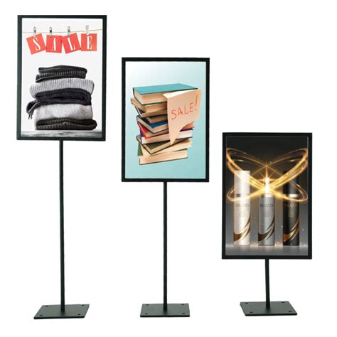 table stands for signs table sign stand with metal frame sign holders co uk