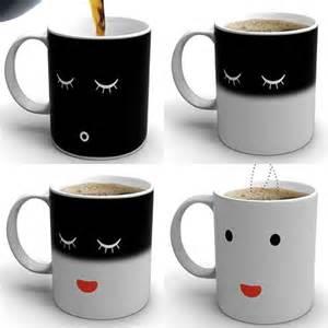 cool mugs heat activated mugs morning coffee