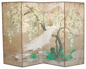Asian Room Divider - four panel folding screen asian screens and room dividers by 1stdibs