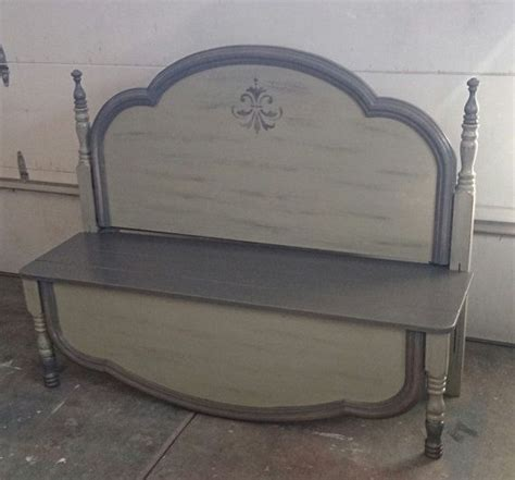 repurposed headboard headboard repurposed and recycled as a bench