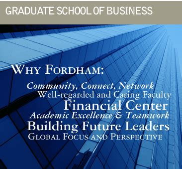 Fordham Mba Class Schedule by Is A Fordham Graduate Business Degree For You 187 Gabelli