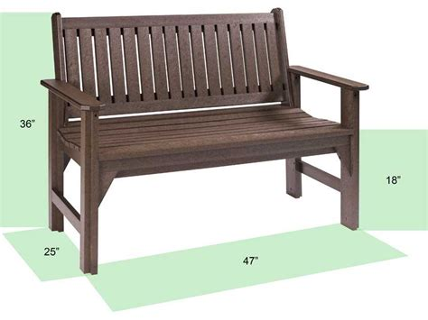 plastic patio bench c r plastic generation garden bench b01