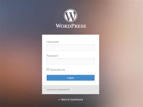 layout bootstrap login wordpress style login form bootstrapzen