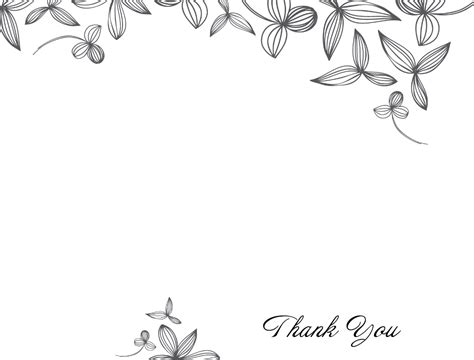 thank you card editable template delicate flower thank you card