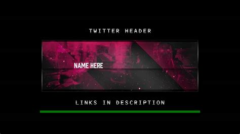 twitter headers psd template