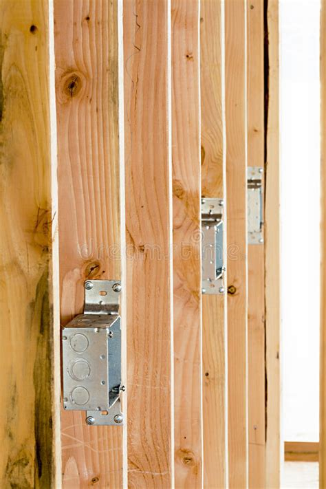new construction electrical boxes stock image image of