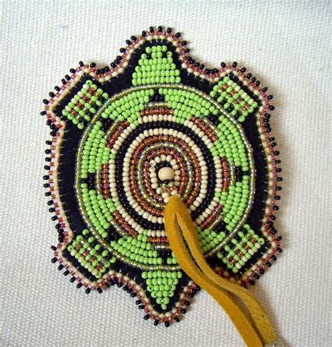 bead work beaded turtle magnet lakota american beadwork bead work