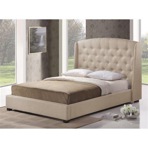 Bedroom Furniture Ipswich Baxton Studio Ipswich Light Beige Linen Modern Platform Bed Size Home Furniture