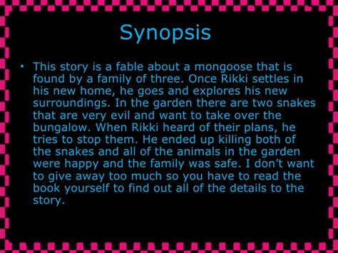 What Is The Story Of The On The Shelf by Rikki Tikki Tavi 2 Ppt