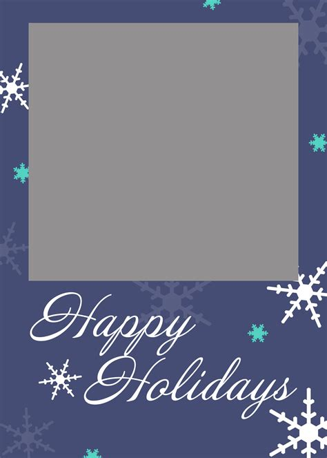 happy holidays photo card template free free card templates cyberuse