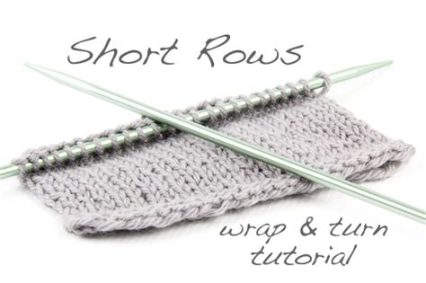 how to turn in knitting row tutorial rows using the wrap turn method the