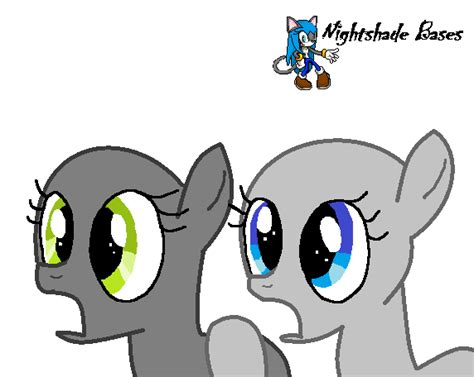 T 46 Blue Pony mlp pony base 1 by nightshade warroir on deviantart