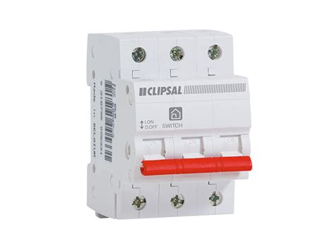 Isolator Switch Clipsal clipsal msw380 isolator switch 3 pole 3 module 10ka