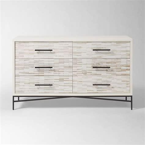 Tiled Dresser by Wood Tiled 6 Drawer Dresser West Elm