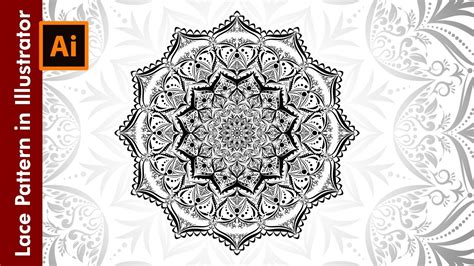 lace pattern ai free how to design lace patterns in adobe illustrator youtube