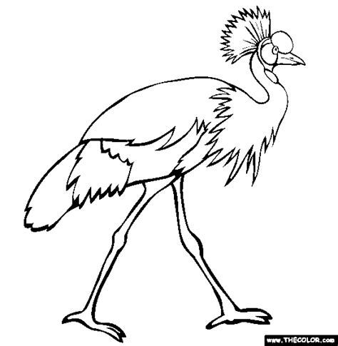 secretary bird coloring page bird online coloring pages page 1