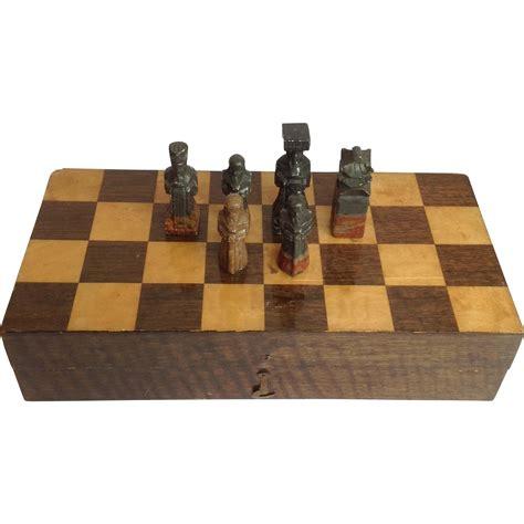 Soapstone Chess Set soapstone chess set boxed from antiquesofriveroaks on ruby