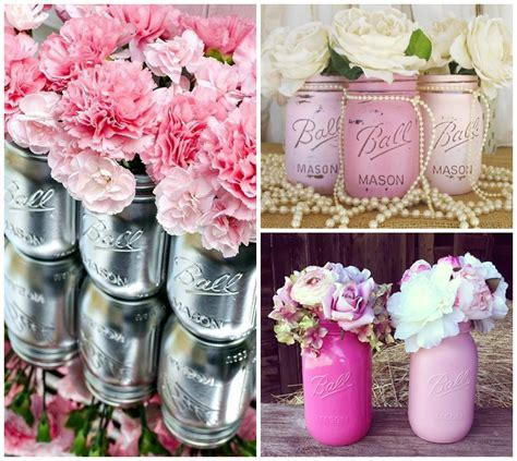 floreros con mason jars blog and coffee decoraci 243 n tarros de cristal de mason jar