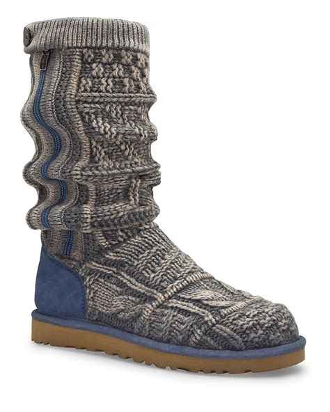 Patchwork Ugg Boots - ugg 174 australia boots patchwork knit bloomingdale s