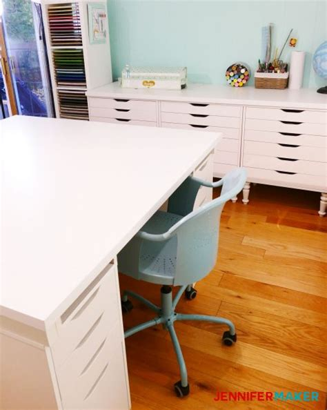 large craft table with storage diy craft table with storage my ikea hack maker