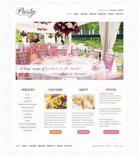 wedding planner website templates 21 event planning website themes templates free