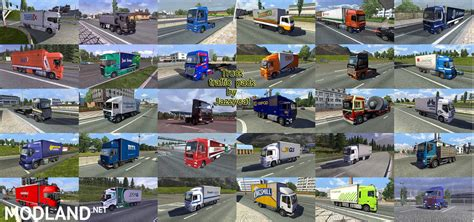 Topi Trucker Cat Mario 4 truck traffic pack by jazzycat v 1 8 mod for ets 2