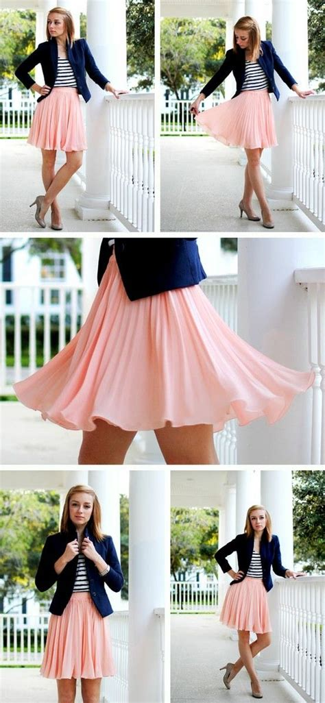 Pink Flow Dress Qif navy and pink flow these colors together the skirt style dresses
