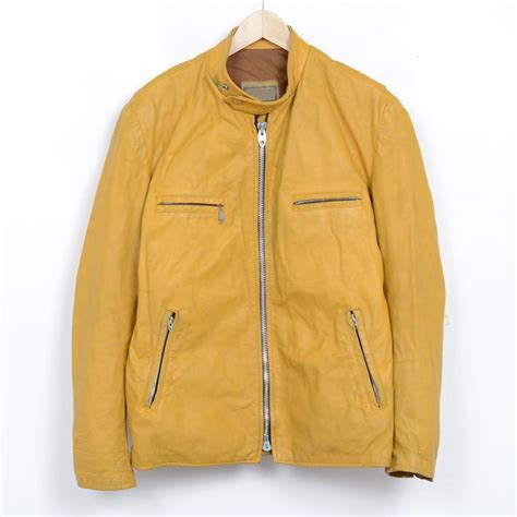 Jaket Yellow yellow leather jacket mens cairoamani