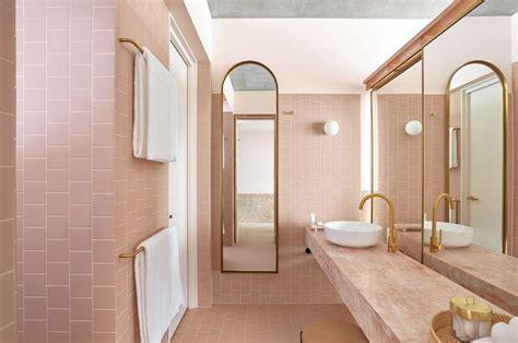 powder room  favorite pink hued bathrooms modern